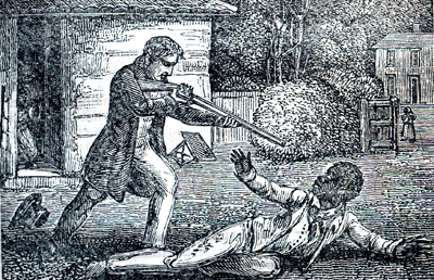 Engraving of the murder of a Negro