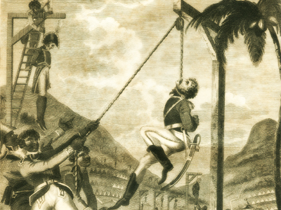Revenge taken by the Black Army for the cruelties practiced on them by the French. Haiti 1791